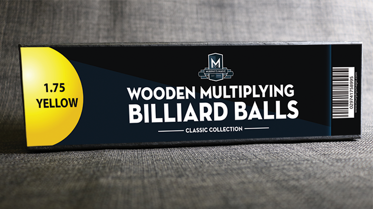 Wooden Billiard Balls (1.75 Yellow) - Classic Collections