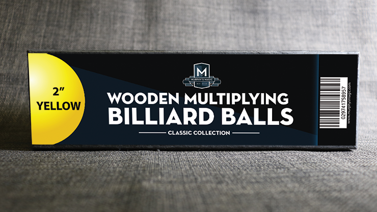 Wooden Billiard Balls (2 Yellow) - Classic Collections