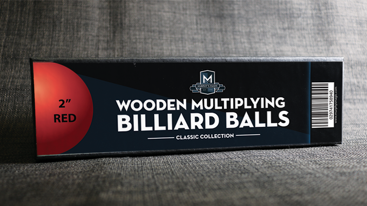 Wooden Billiard Balls (2 Red) - Classic Collections