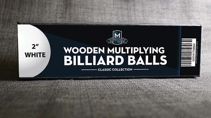 Wooden Billiard Balls (2 White) - Classic Collections