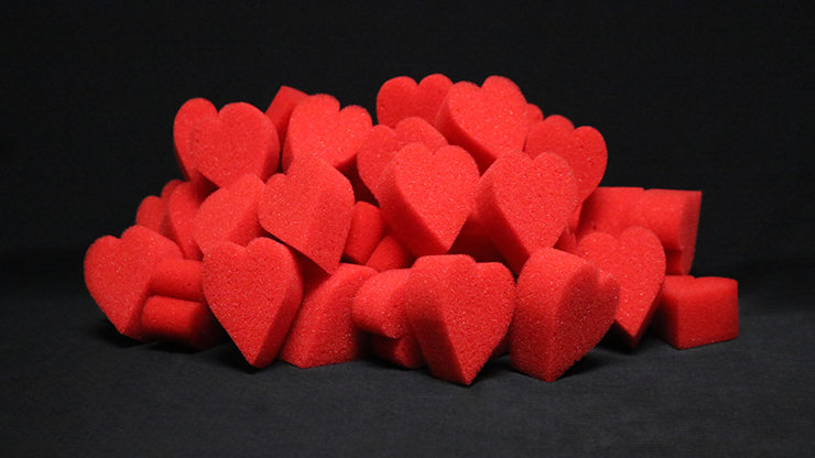 Ultra Soft Red Hearts Bag of 50
