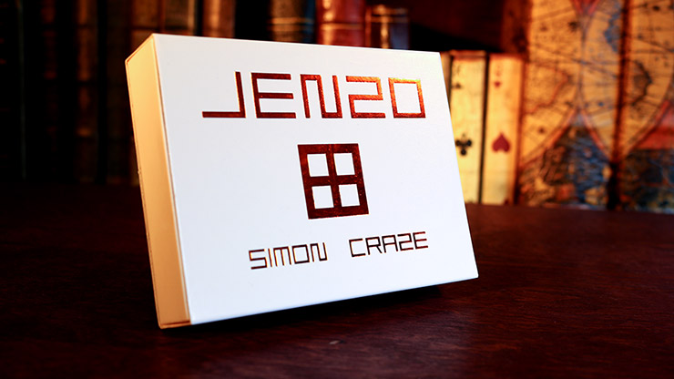 JENZO White (Gimmicks and Online Instructions) by Simon Craze Voraussagemirakel, Weiß