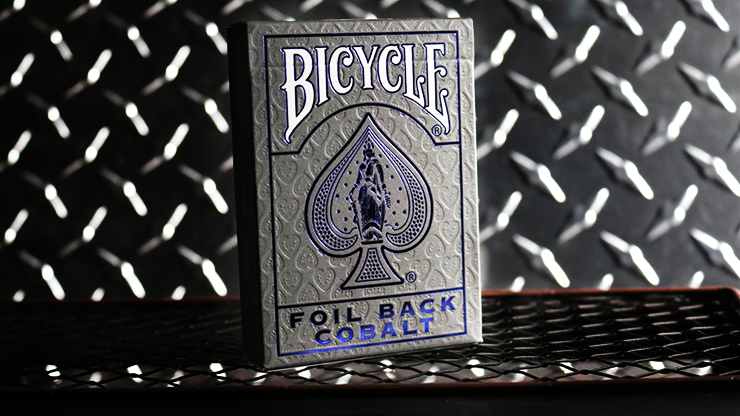Bicycle Rider Back Crimson Luxe (Blue) Version 2 by US Playing Card Co