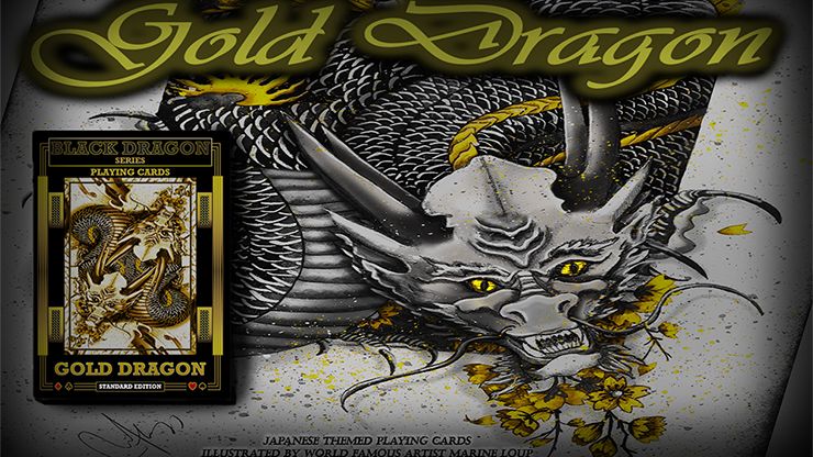 Gold Dragon (Standard Edition) Playing Cards - Craig Maidment