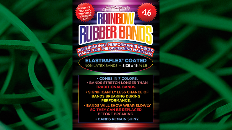 Joe Rindfleisch's SIZE 16 Rainbow Rubber Bands (Marcus Eddie - Green Pack  )