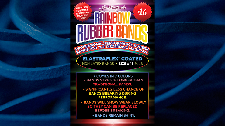 Joe Rindfleisch's SIZE 16 Rainbow Rubber Bands (Hanson Chien - Blue Pack)