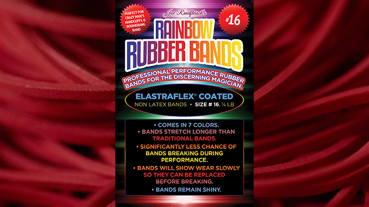 Joe Rindfleisch's SIZE 16 Rainbow Rubber Bands (Joe Rindfleisch - Red Pack)