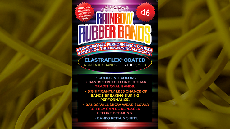 Joe Rindfleisch's SIZE 16 Rainbow Rubber Bands (Russell Leeds -Yellow )