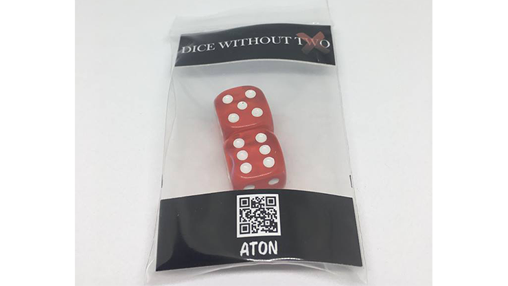 Dice Without Two CLEAR RED (2 Dice Set) by Nahuel Olivera Magic and Aton Games - Trick