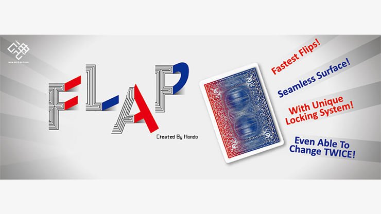 Modern Flap Card PHOENIX (Red to Blue Face Card) by Hondo