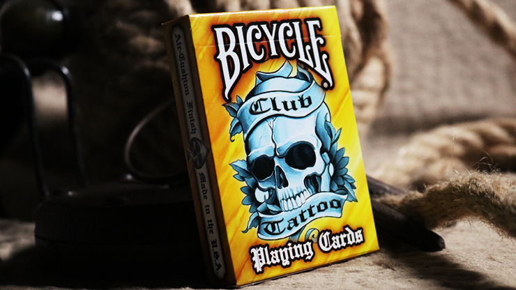 Bicycle Club Tattoo (Orange) Playing Cards