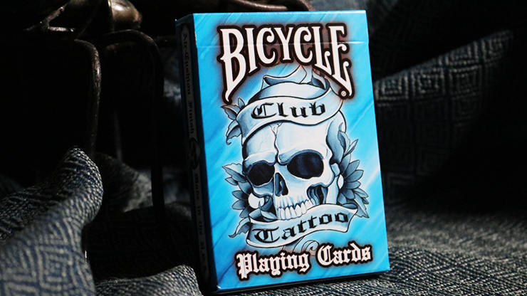 Bicycle Club Tattoo (Blue) Playing Cards