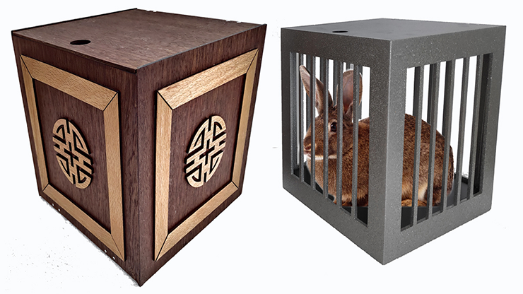 Vanishing and Appearing Dove Cage in a Cube (Wooden) - Tora Magic