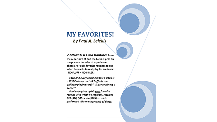 My Favorites! by Paul A. Lelekis eBook DOWNLOAD