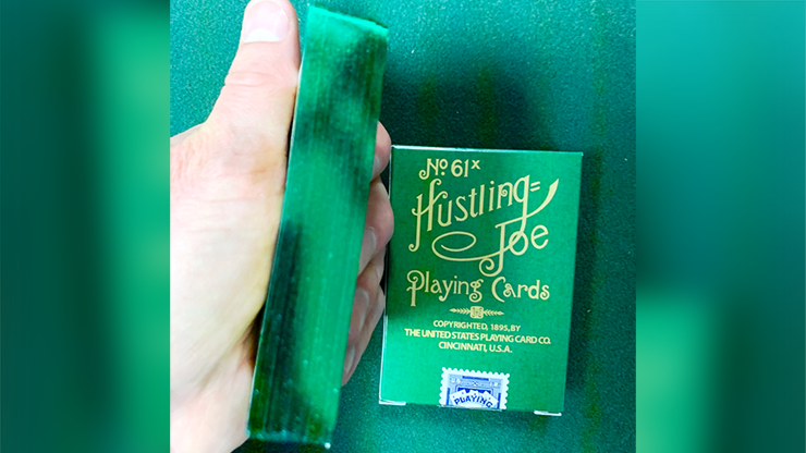 Limited Edition Hustling Joe Green Gilded (Frog Back) Playing Cards