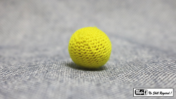 Crochet Ball .75 inch Single (Yellow) by Mr. Magic