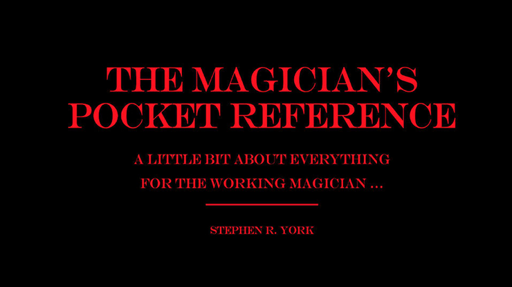 The Magicians Pocket Reference by Stephen R. York eBook DOWNLOAD
