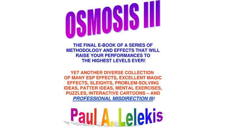 OSMOSIS III Paul A. Lelekis Mixed Media DOWNLOAD