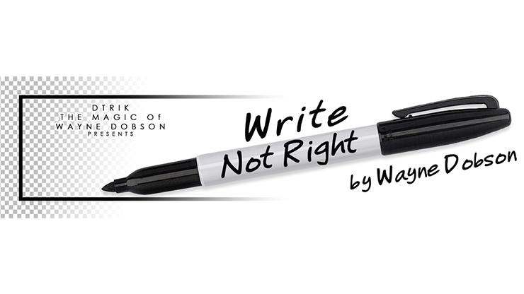 Write, Not Right Sharpie (Gimmicks and Online Instructions) - Wayne Dobson