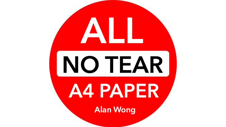 No Tear Pad (Extra Large, 8.5 X 11.5 ) ALL No Tear - Alan Wong