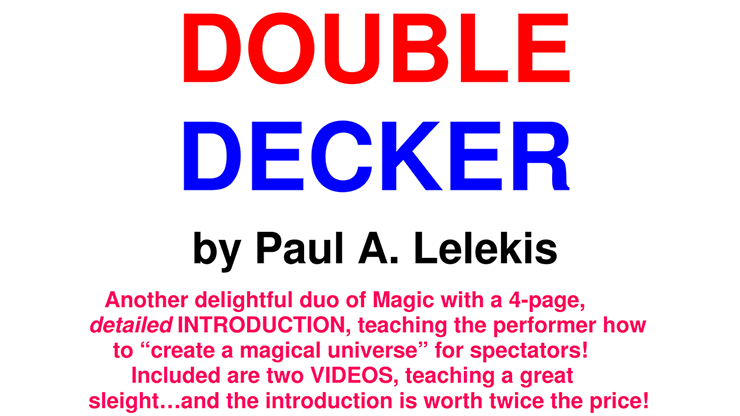 DOUBLE DECKER by Paul A. Lelekis Mixed Media DOWNLOAD