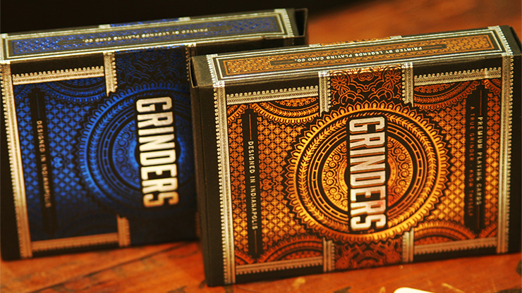 Blue Grinders Playing Cards - Midnight Cards