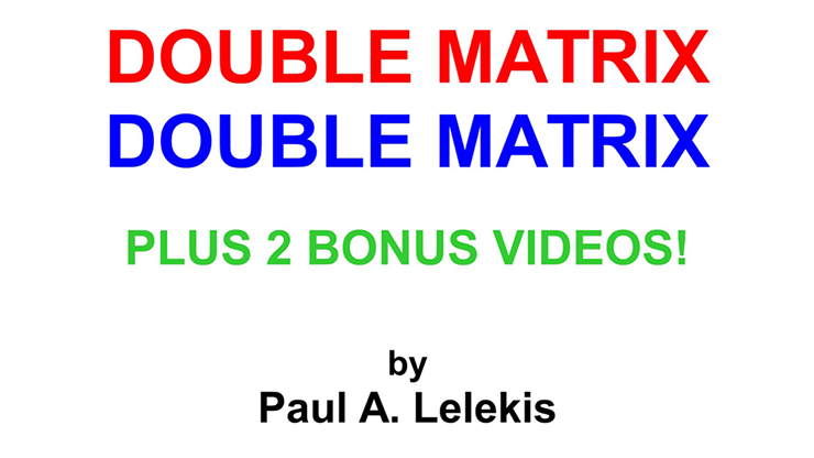 DOUBLE MATRIX - Paul A. Lelekis Mixed Media DOWNLOAD