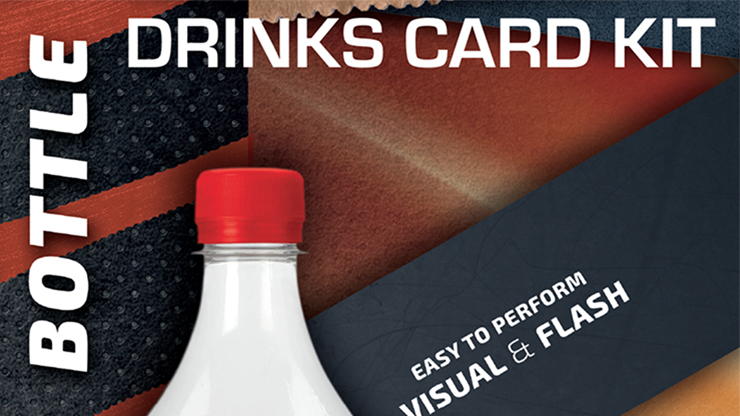 Drink Card KIT for Astonishing Bottle (Gimmick and Online Instructions) - João Miranda and Ramon Amaral