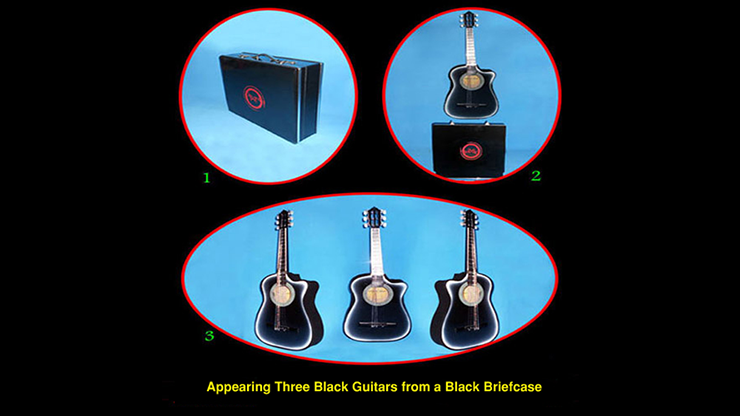 Appearing Guitars from Briefcase (3/Black) - Black Magic