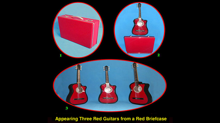 Appearing Guitars from Briefcase (3/Red) - Black Magic