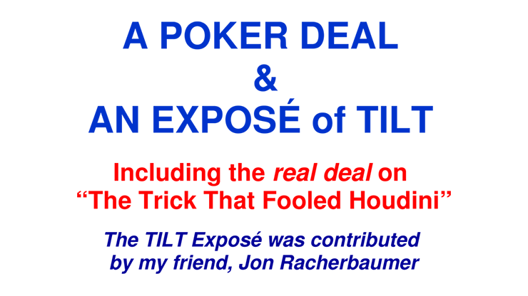 A Poker Deal & An Exposé of TILT - Paul A. Lelekis eBook DOWNLOAD
