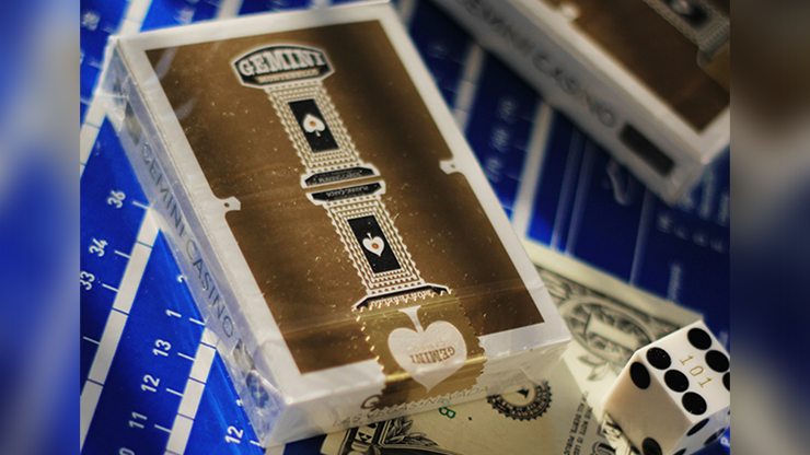 Gold Gemini Casino Playing Cards by Gemini