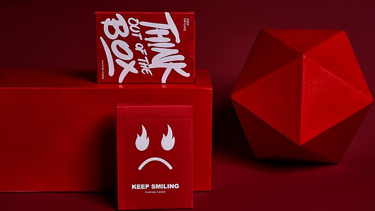 Carti de joc Keep Smiling Red V2