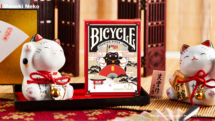 Bicycle Maneki Neko (RED) Playing Cards - Bocopo