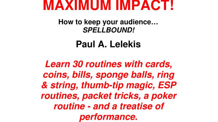 MAXIMUM IMPACT - Paul A. Lelekis eBook DOWNLOAD