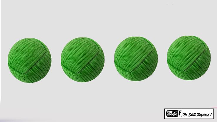 Rope Balls 1 inch / Set of 4 (Green) - Mr. Magic