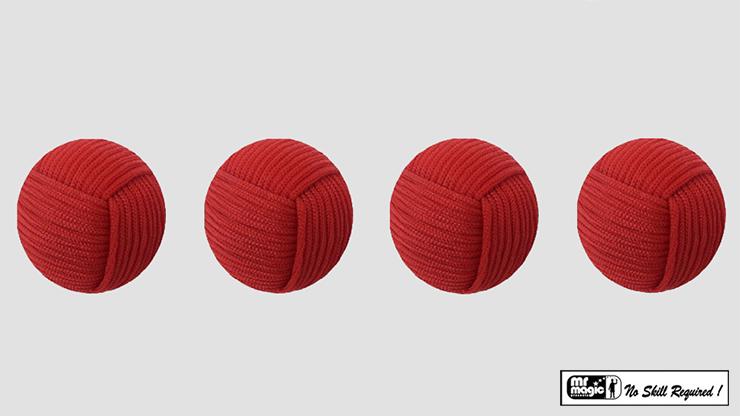 Rope Balls 1 inch / Set of 4 (Red) - Mr. Magic