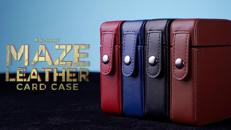 MAZE Leather Card Case (Black)