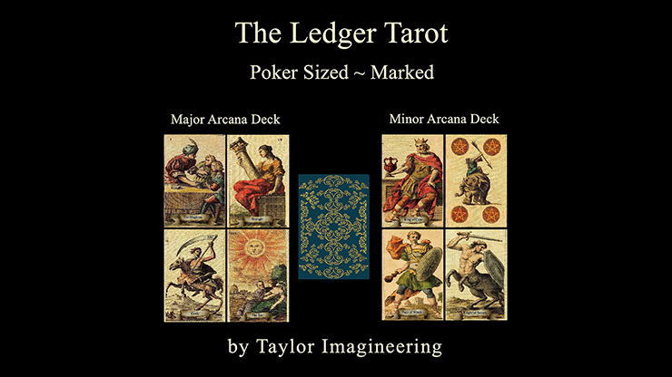 Ledger Major and Minor (2 decks and Online Instructions) Arcana Deck Poker Sized - Taylor Imagineering
