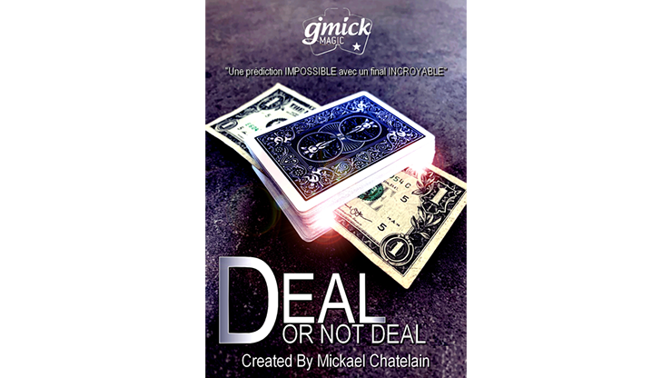 DEAL NOT DEAL Blue (Gimmick and Online Instructions) - Mickael Chatelain