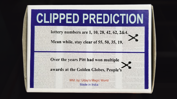 CLIPPED PREDICTION (Lotto/Golden Globe) - Uday