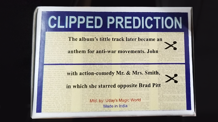 CLIPPED PREDICTION (Lennon/Brad Pit) - Uday