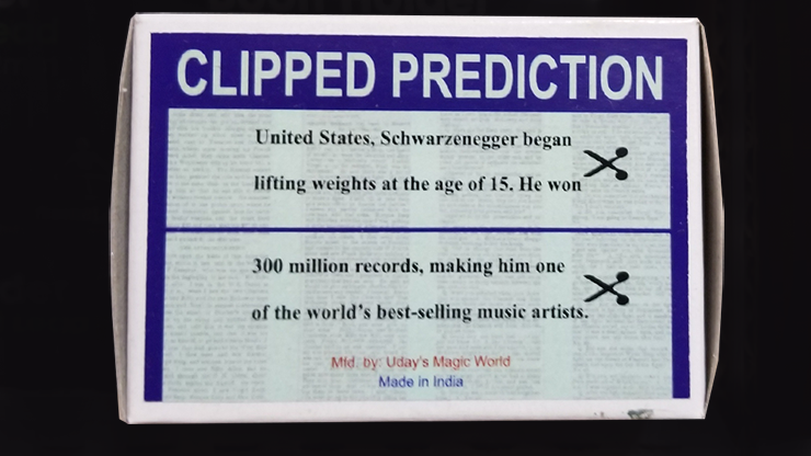 CLIPPED PREDICTION (Schwarzenegger/Elton) - Uday