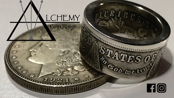 Kennedy Half Dollar Ring (Size: 9.5) - Alchemy Coin Rings