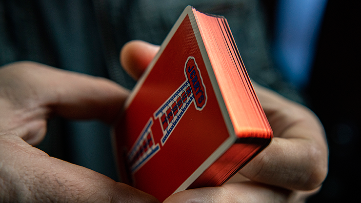 Gilded Vintage Feel Jerry's Nuggets (Red) Playing Cards