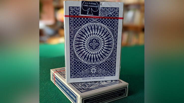 Experts Thin Crushed Printed on Web Press Tally Ho Circle Back (Blue) Playing Cards