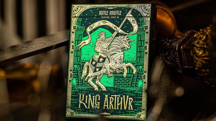 King Arthur (Emerald Saga) Playing Cards - Riffle Shuffle