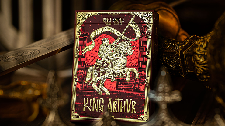 King Arthur (Carmine Cavalier) Playing Cards - Riffle Shuffle
