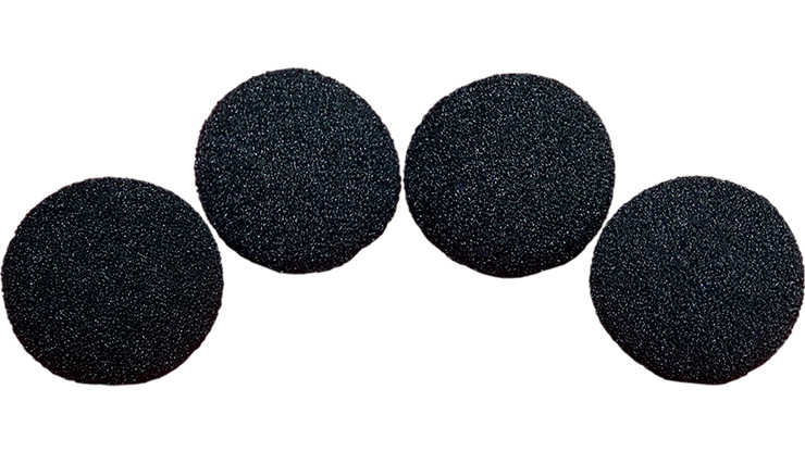3 inch High Density Ultra Soft Sponge Ball (BLACK) Pack of 4 from Magic - Gosh