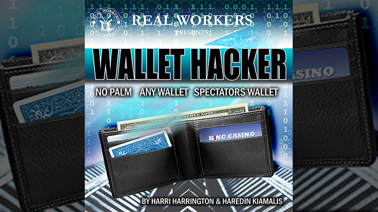 Wallet Hacker BLUE (Gimmicks and Online Instruction) by Joel Dickinson - Trick